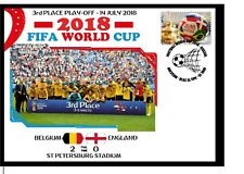BELGIUM V ENGLAND 2018 FOOTBALL WORLD CUP 3RD PLACE MATCH COVER