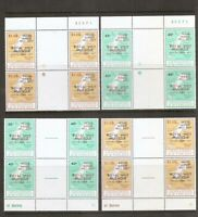 St Vincent grenadines SC # 127-128 Map type of 1977 Overprinted. MNH