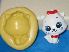 Cat Kitty Bow Silicone Mold A471 Cake Chocolate Resin for Edible Fondant Wax