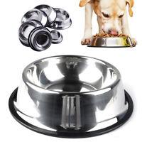Gamelle pour chien chat Inox Antidérapant Bol eau Distributeur Croquettes XS-2XL