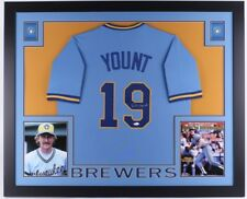 Robin Yount Milwaukee Brewers Custom Framed Autographed Jersey w/ JSA COA