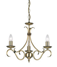 Endon Bernice chandelier 3x 60W Antique brass effect plate