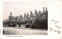 Great Britain, 1903 Woking Postcard Used, Woking and Pirbright, Postal Markings