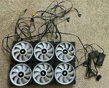 More details for corsair - ll120 rgb fans (x6) & lighting node pro / rgb fan hub (a)
