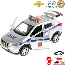 Diecast Metal Model Car Hyundai Creta Russian Police Toy Die-cast Light Sound