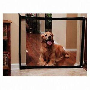 Dog Gate Mesh Fence Magic Pet Barrier Folding Safe Guard Indoor Outdoor Dog Pale