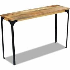 vidaXL Mango Wood Hall Console Display Side Table Desk Steel Frame Industrial