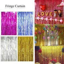 2M-3M Metallic Fringe Foil Curtain Tinsel Birthday Photo Backdrop Party Decor