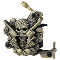 Hot Empaistic Skull Tattoo Machine Gun for Liner & Shader Dual 10-Wrap Coils Set