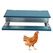 Waterproof Automatic Chicken Feeder Treadle SelfOpen Aluminum Feeder Feed Trough