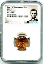 2019 W LINCOLN PENNY NGC MS69 RD UNCIRCULATED SHIELD CENT FIRST RELEASES