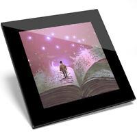 1 x Beautiful Magic Book Fantasy Art Glass Coaster - Kitchen Student Gift #14061