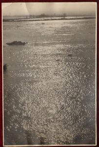 Original Large Press Photo Serbia Flood River Velika Morava 1960s