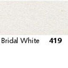 Berisfords Double Satin Ribbon 35 Colours 5 Widths 3 Lengths Bridal White #419 15mm X 2mtrs