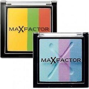 MAX FACTOR MAX EFFECT TRIO EYE SHADOWS yellow green blue purple orange compact