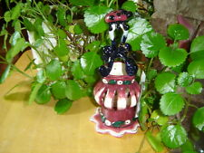 Heather Goldminc Lady Bug Candle Votive Holder/Plate/Gift Box Blue Sky Clayworks