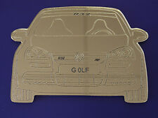 VW GOLF / R32  MIRROR, GREAT  GIFT,FANTASTIC DETAIL , MADE IN UK