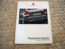 PORSCHE OFFICIAL CAYENNE S TURBO TEQUIPMENT ACCESSORIES SALES BROCHURE 2004 USA