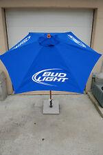 Bud Light Beer Patio Beach Market 7 FT. Umbrella NEW IN BOX  3 Bud Light Logos