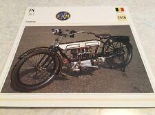 Carte moto FN 700 T 1918 collection Atlas Motorcycle Belgique