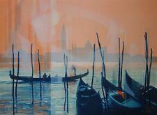 """Jean-Baptiste VALADIE : """"Gondoles à Venise""""# LITHOGRAPHIE ORIGINALE SIGNEE et N°"""
