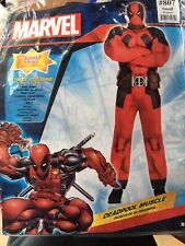 Adult's Mens Small Marvel Deadpool Padded Muscle Chest 5 Piece Costume
