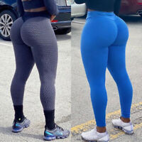 Women Yoga Pants High Waist Anti Cellulite Push Up Leggings Workout Trousers Gym
