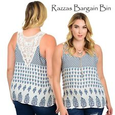 New Ladies Stunning White Top With Lace Inset Back Plus Size 16/2XL (1036)OF