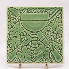 "Winifred Pottery ""DEBONO"" Windsor Ontario Canada Art Tile * 6-1/4"" Square"