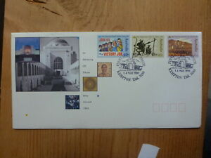 AUSTRALIA 1991 50th ANNIV WWII SEDT 3 STAMPS FDC- KEMPTON CLOCK TOWER PICTORIAL