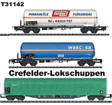 Trix 31142 Schiebeplanwagen+2 Kesselwagen Auf Wunsch Achstausch Märkl./DC gratis