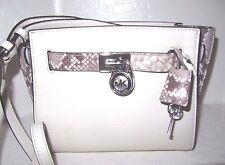 Michael Kors Ecru Leather Hamilton Traveler Messenger Crossbody Bag NWT $328