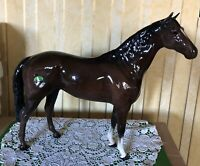 BESWICK HORSE LARGE HUNTER BROWN GLOSS MODEL VERSION 2 No. 1734 PERFECT