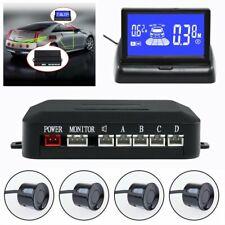 4 Parking Sensor Car Reverse Backup Rear Radar System Led Monitor Alert Alarm 7b
