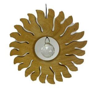 """Sun Catcher Crystallized Swarovski Wooden Window Decoration Sternengasse 4 1/2"""""""