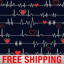 "Heartbeat Fleece Fabric - 60"" Wide - Style# 44151 - Free Shipping!"