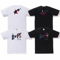 A BATHING APE Men's MIX CAMO BAPESTA TEE 2colors From Japan New