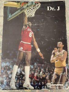 Vintage Dr. J Julius Erving Poster - NBA/Converse - 1979