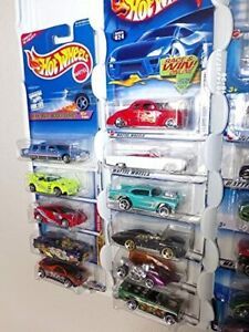 Hot wheels Display Case (white) for carded cars w Dust Cover for up to 52 cars