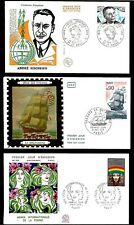 1975 France FDC x 6 - Andre Siegfried Stamp +5 other FDC