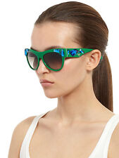 PRADA Voice SPR 22Q Oversized Crystal Embellished Sunglasses in Green