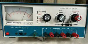 Heath Heathkit 2718 Tri-Power Supply IP-2718, Dual tracking 0-20V@ 0.5A, 5V@1A