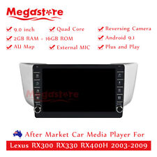 "9"" Quad Core Android 9.1 Car non dvd Media Player For Lexus RX300 RX330 RX400H"