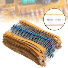 1280Pcs 64 values 1 ohm - 10M ohm 1/4W Metal Film Resistors Assortment US