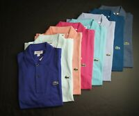 LACOSTE Men's Classic Fit Short Sleeves Solid Polo Shirt NEW NWT