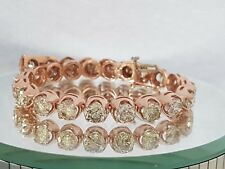 17.00ct ROUND CUT DIAMOND TENNIS BRACELET 14K ROSE GOLD K SI2 CERTIFIED