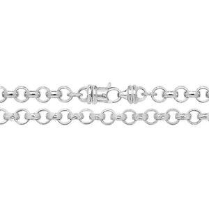 Massiver Sterling Silber programmiert Bracelet uni & gemustert - 20 Gramm