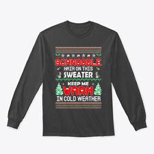 Schnoodle Hair Christmas Ugly Gildan Long Sleeve Tee T-Shirt