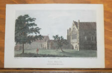 1793 Antique Engraved COLOR Print///ELY HOUSE, from RICHARD II, ACT II, SCENE 1