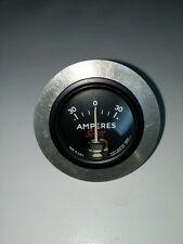 New listing Vintage Scott Aviation Corp Amperes Gauge Voltage Battery Airplane Meter w Mount